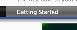 Getting Started tab for application designers Icon