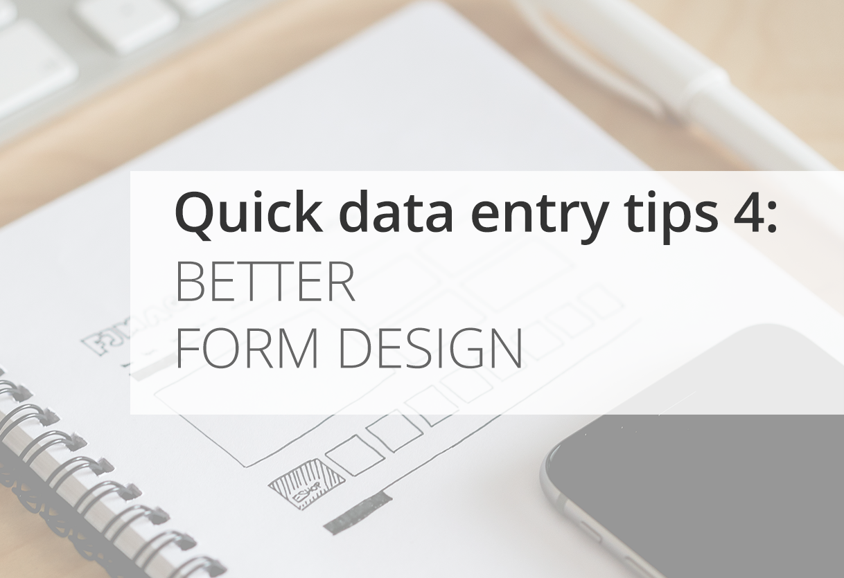 Quick Data Entry Tips: Better Form Design Icon