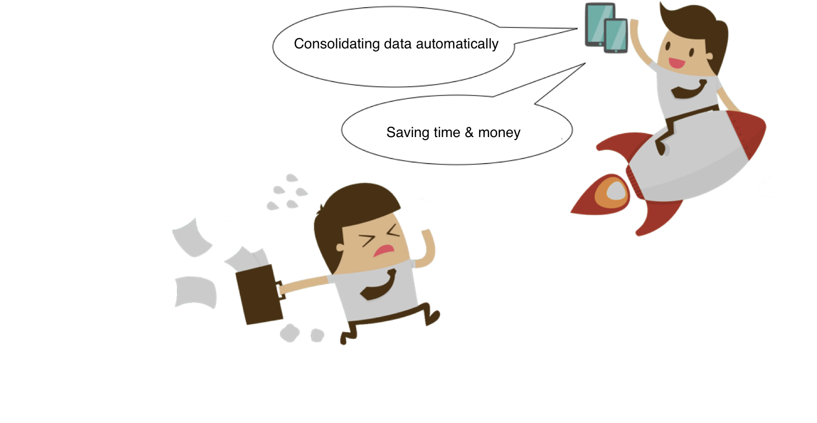 Consolidating data automatically; Saving time & money
